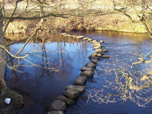 Stepping Stones, River Derwent