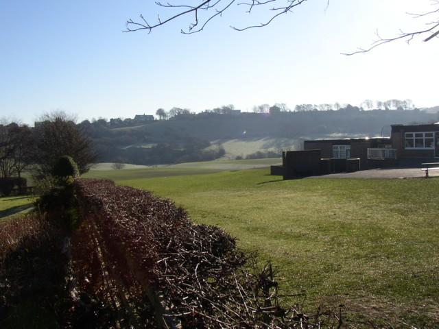 The back of Carr Green Lane School, Rastrick (SE138 212)