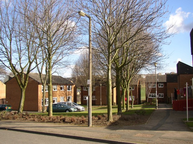 Council housing, Chapel Croft, Rastrick (SE 138 213)