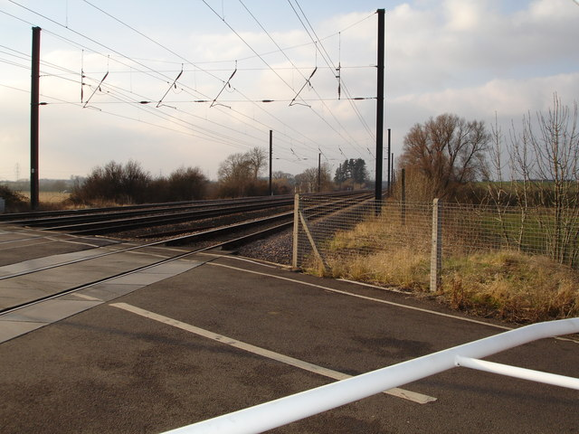 Railway Crossing the Greatford to Belmesthorpe road