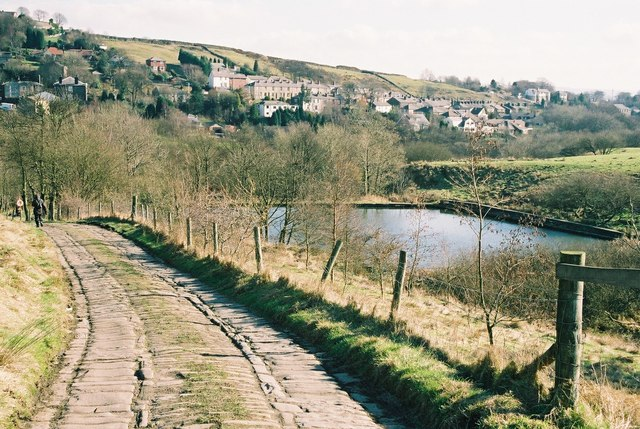 Small reservoir near Broadley, Lancashire