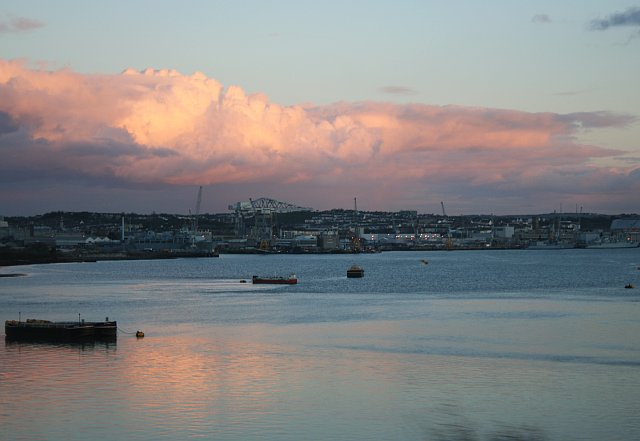 View from near Wearde Quay: Evening Reflections over the Hamoaze