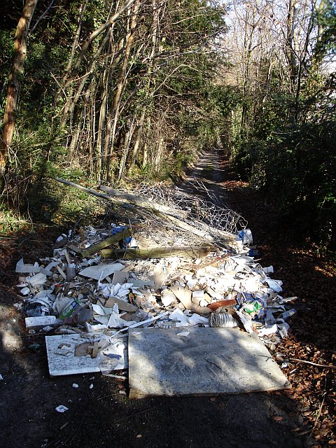 Fly Tipping on Steps Hill Road