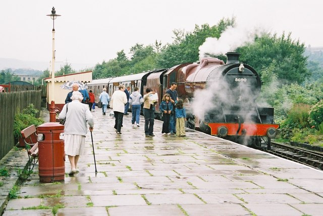 Steam locomotive at Rawtenstall, Lancashire