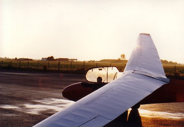 Glider at Dawn, midsummer, Rufforth