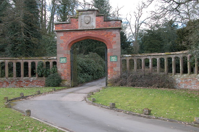 Entrance arch to Westwood House, Droitwich