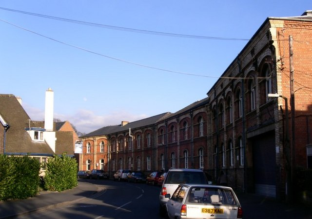 Royal Worcester's frontage on Severn St (formerly Frog Lane)