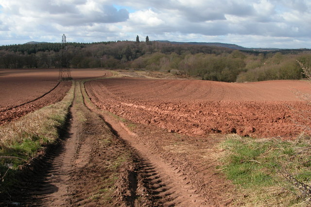 Ploughed field at near Lineholt