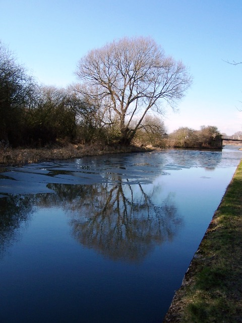Icy Reflections in the Erewash Canal