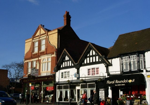 Shops on the north side of Sidbury , Worcester