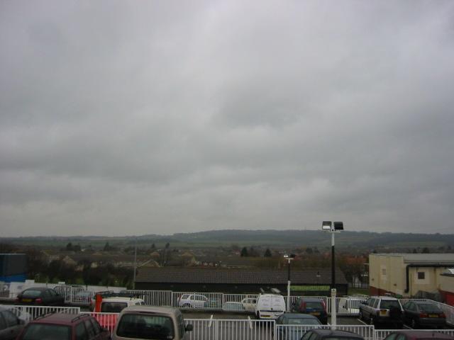 Cloudy skies over Corringham
