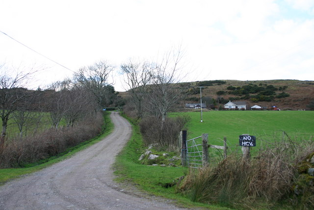 Coshandrochaid entrance road.