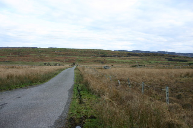 Road to new and old Ulva.