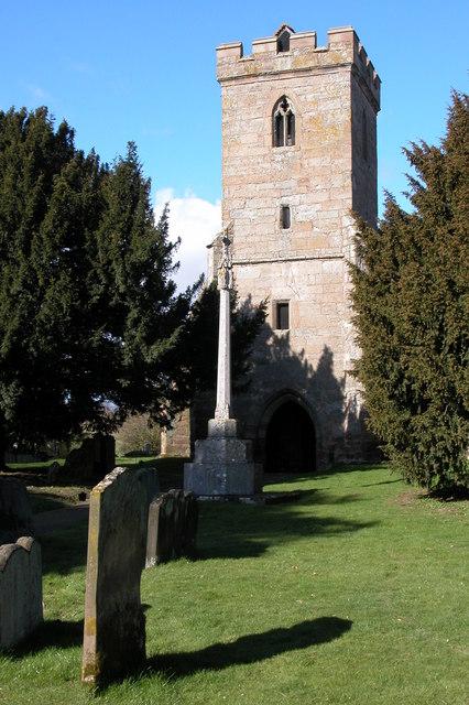 The tower of St Mary's church, Hampton Lovett