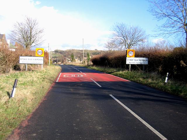 Entrance to Stoke-sub-Hamdon village, Somerset