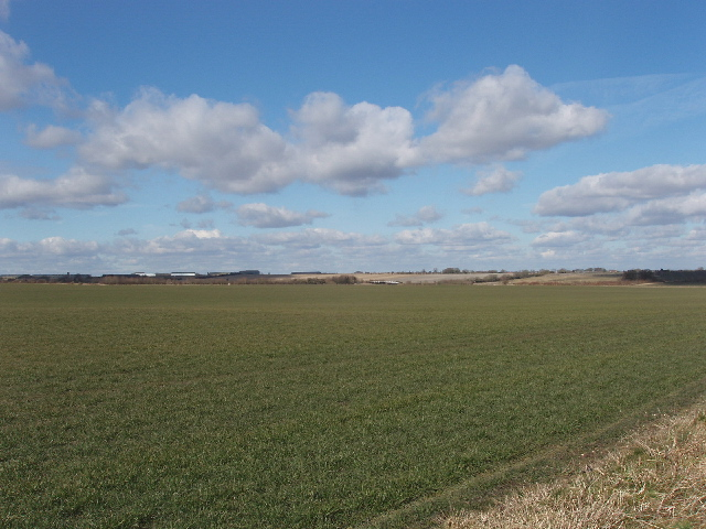Fields below Burderop Down, view to Wroughton
