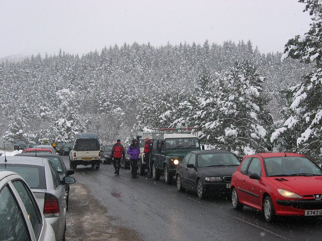 Glen More traffic jam.