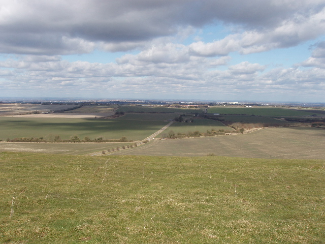 View west of north from Burderop Down