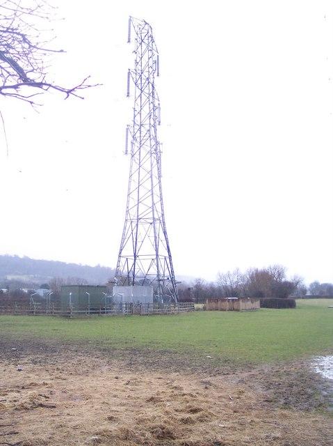 Pylon in Field off Chargrove Lane