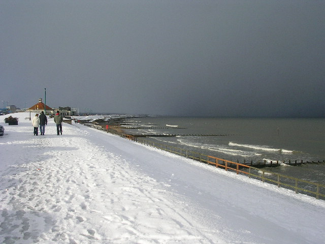 Snow at Aberdeen Beach