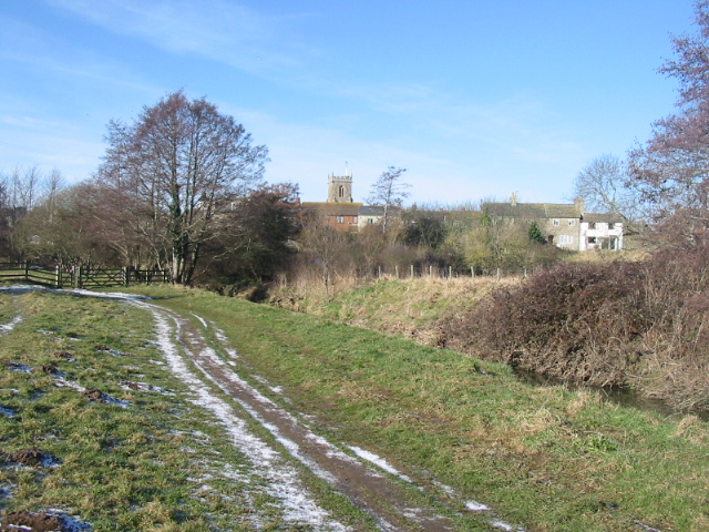 Fields beside River  Asker, Bridport