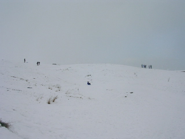 Sledging on the Broad Hill