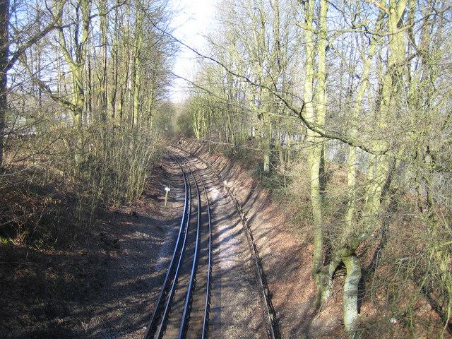Metropolitan Line railway near Chesham