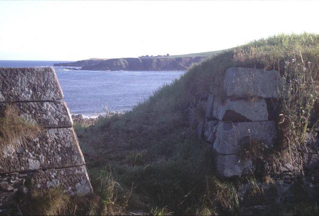 Battery gun emplacement