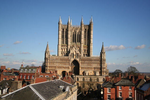 Lincoln Cathedral from the Castle east gate