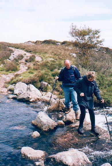 Stream crossing on Poolewe-Slattadale path.