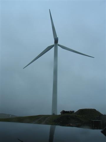 Wind Turbine in the mist