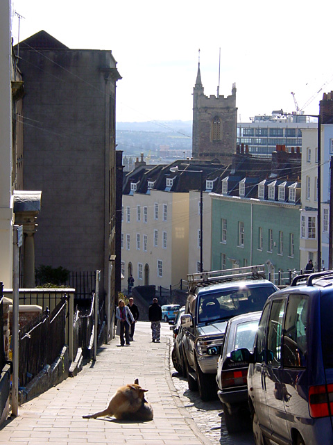 Looking down St Michael's Hill