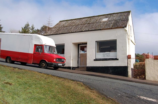 Small Grocery on Stormy Hill Road, Portree
