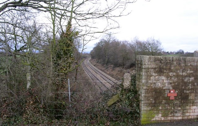Copcut bridge over the line to Droitwich