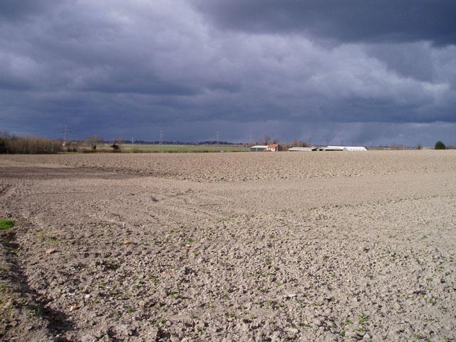 Ridge of high ground near Burwell