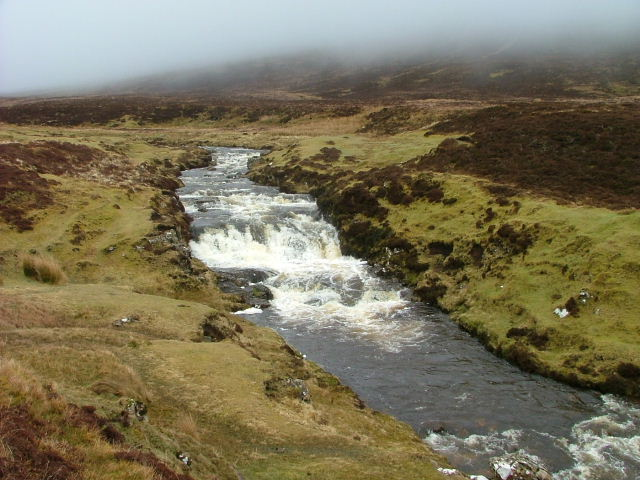 The River Rha in spate