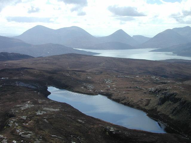 Loch na Mna and whole of NG5738