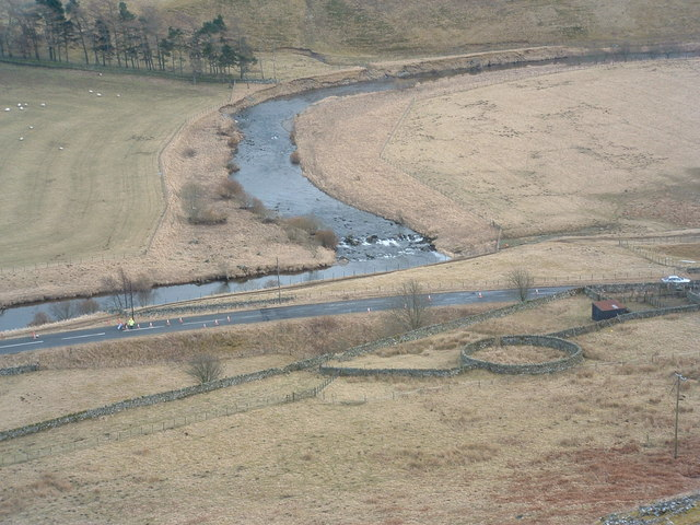 Sheepfold, A701, River Tweed