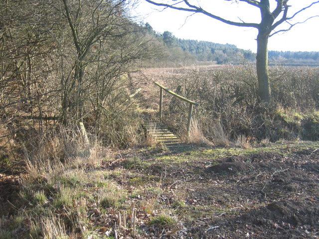 Footbridge by Weethley Wood
