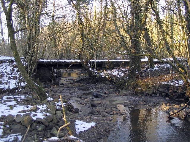Footbridge on the River Grenig