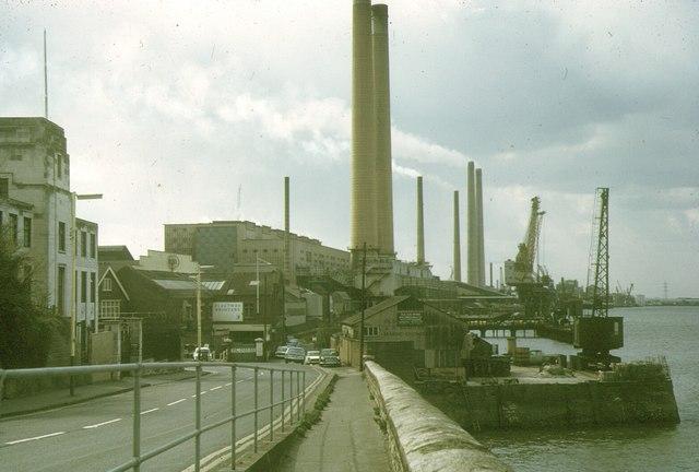 Northfleet Power Station, 1973