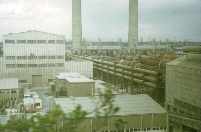 Cement Kilns, Northfleet, 1973
