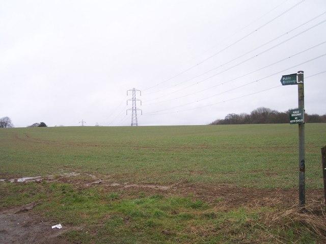 Bridleway and Powerlines