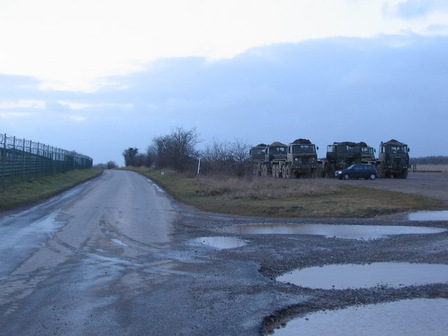 Trucks near Rollestone Camp.