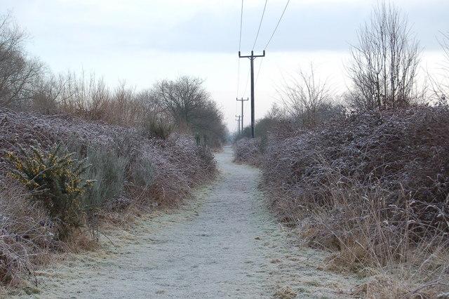 Path running next to the railway