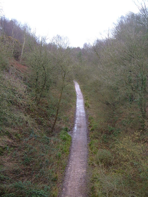 Disused rail track near Knowle