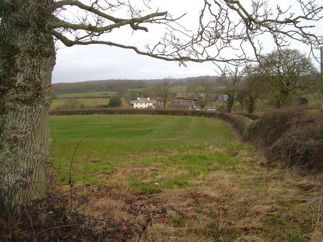Liverton Farm from Salterton Road