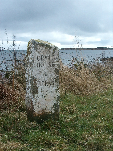 1 mile to Craighouse; 10 to the ferry
