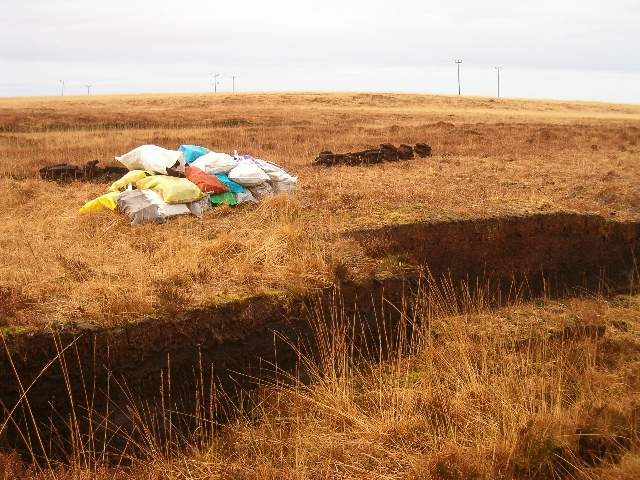 Turf cutting on Islay