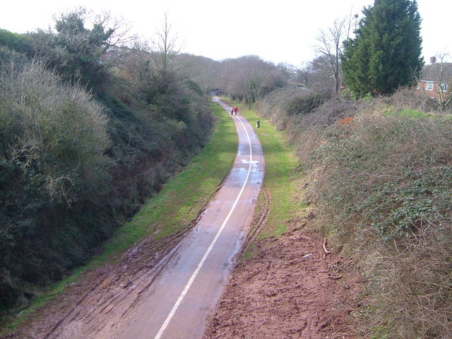 Cycleway on disused railway, Exmouth